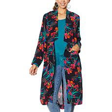 Colleen Lopez Open Front Blazer Cardigan with Pockets