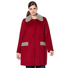 Colleen Lopez Opulence Embellished Wool Coat
