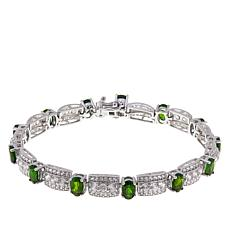 Colleen Lopez Oval Gem and White Zircon Line Bracelet
