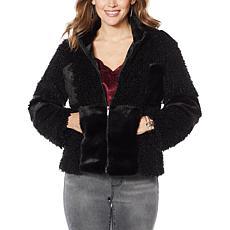Colleen Lopez Patchwork Faux Fur Coat