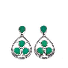 Colleen Lopez Pear-Shaped Chrysoprase Drop Earrings