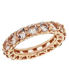 Colleen Lopez Rose Gold-Plated Morganite Eternity Band Ring