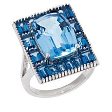 Colleen Lopez Sky Blue Topaz and London Blue Topaz Ring