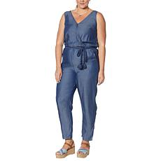 Colleen Lopez Sleeveless Jumpsuit with Drawstring Waist