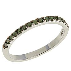 Colleen Lopez Sterling Silver 0.21ctw Colored Diamond Band Ring