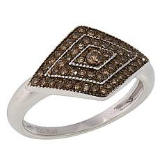 Colleen Lopez Sterling Silver 0.33ctw Colored Diamond Geometric Ring
