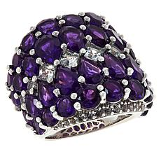 Colleen Lopez Sterling Silver Amethyst Statement Ring