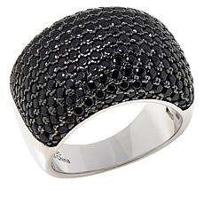 Colleen Lopez Sterling Silver Black Spinel Wide Band Ring