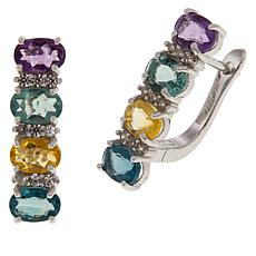 "Colleen Lopez Sterling Silver ""Colors of Fluorite"" Earrings"