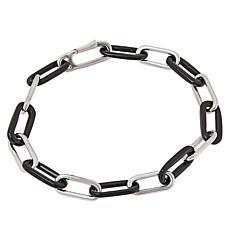 Colleen Lopez Sterling Silver Gemstone Paperclip Link Bracelet