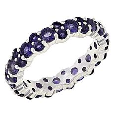 Colleen Lopez Sterling Silver Iolite Eternity Band Ring