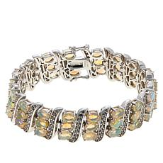 Colleen Lopez Sterling Silver Opal and White Zircon Bracelet