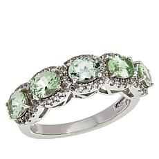 Colleen Lopez Sterling Silver Oval Gemstone 5-Stone Ring