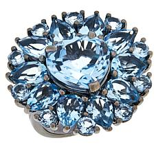 Colleen Lopez Sterling Silver Sky Blue Topaz Multi-Stone Ring