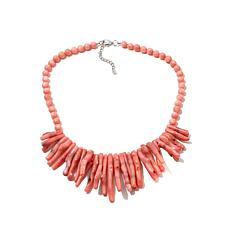 "Colleen Lopez ""Sun Kissed"" Pink Branch Coral Necklace"