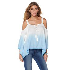 Colleen Lopez Sunset View Cold-Shoulder Ombre Top