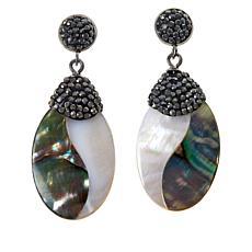 Colleen Lopez Two-Tone Shell Drop Earrings