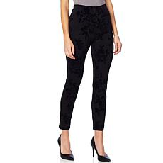 Colleen Lopez Winter Garden Floral Flocked Ponte Pant