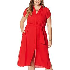 Colleen Lopez Work and Play Button-Front Dress