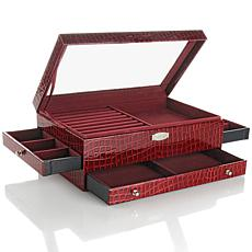 Colleen's Prestige™ Croco-Emboss Everything Jewelry Box