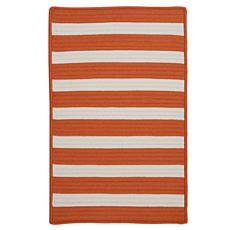 Colonial Mills Stripe It 8' x 11' Rug - Tangerine
