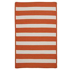 Colonial Mills Stripe It 8' x 11' Rug - Tangerine