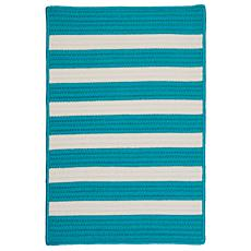 Colonial Mills Stripe It 8' x 11' Rug - Turquoise
