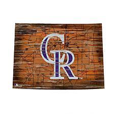 "Colorado Rockies 24"" Distressed State w/Logo"
