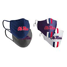 Colosseum Collegiate NCAA Team Logo Face Covering 4-Pack - Ole Miss
