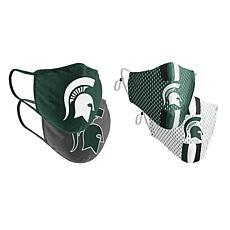 Colosseum Collegiate NCAA Team Logo Face Covering 4-Pk - Michigan St