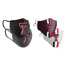 Colosseum Collegiate NCAA Team Logo Face Covering 4-Pk - Texas Tech