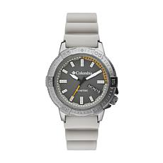 "Columbia ""Peak Patrol"" Men's Gray Dial Khaki Silicone Strap Watch"
