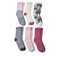Comfort Code 6-pack Cozy Crew Socks
