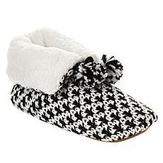 Comfort Code by Cuddl Duds Chevron Knit Bootie Slipper