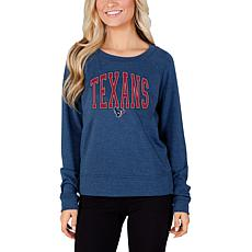 Concept Sports Mainstream Ladies Knit Long Sleeve Top - Texans