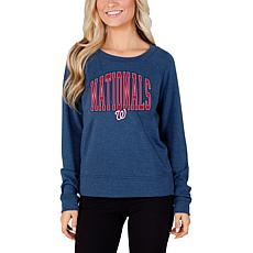 Concepts Sport Mainstream Ladies Knit Long Sleeve Top - Nationals