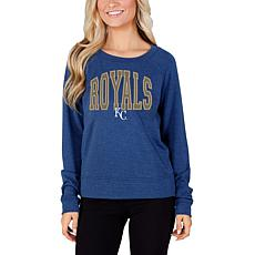 Concepts Sport Mainstream Ladies Knit Long Sleeve Top - Royals