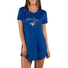 Concepts Sport Marathon Ladies Knit Nightshirt - Blue Jays