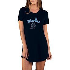 Concepts Sport Marathon Ladies Knit Nightshirt - Marlins