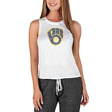Concepts Sport Officially Licensed MLB Ladies Knit Tank Top Brewers