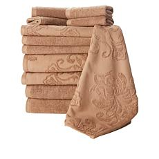 Concierge 12-Piece 100% Turkish Cotton Jacquard Mixed Towel Set