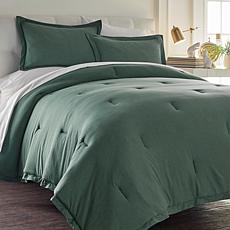 Concierge 3pc Heathered Jersey Knit Comforter Set