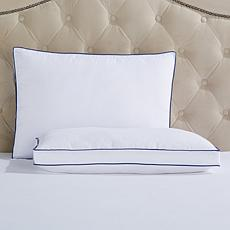 Concierge Cleanweave Blue Trim 2pk Pillows - S