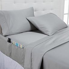 Concierge Collection 100% Cotton 400TC 3-pc Twin Sheet Set w/Pockets