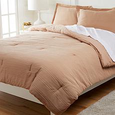 Concierge Collection 100% Cotton Hotel Waffle Weave Comforter Set