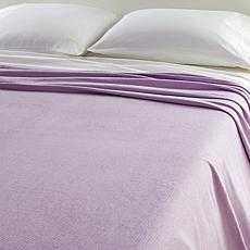 Concierge Collection 100% Cotton Ribstooth Blanket