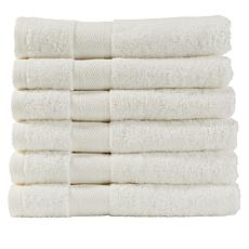 Concierge Collection 100% Turkish Cotton 6-piece Hand Towel Set