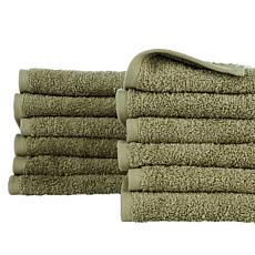 Concierge Collection 12-Piece 100% Turkish Cotton Washcloth Set