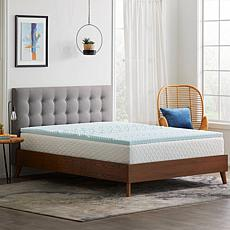 """Concierge Collection 2"""" Gel Infused Zoned Twin XL Mattress Topper"""