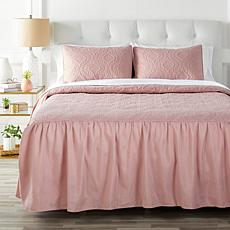 Concierge Collection 3-piece Skirted Bedspread Set